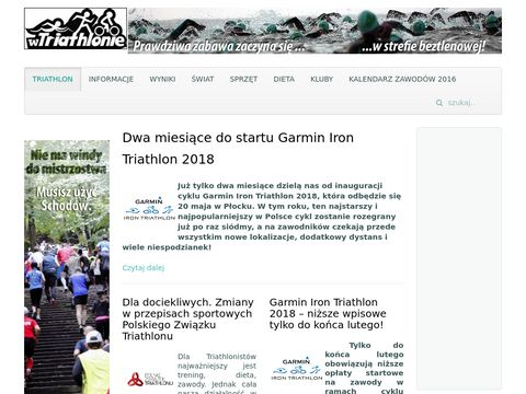 Wtriathlonie.pl - wiadomości ze świata