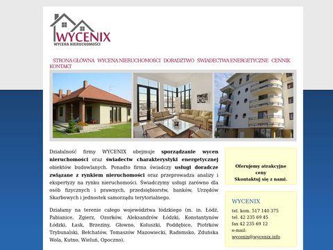 Wycenix.info wycena nieruchomości, doradztwo