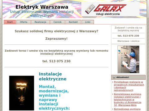 Warszawaelektryk.com.pl instalacje usługi pomiary