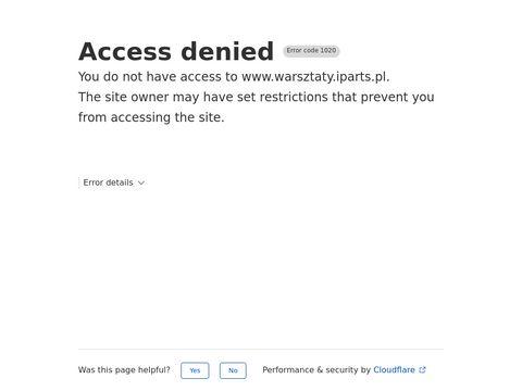 Warsztaty.IParts.pl poleca warsztaty samochodowe