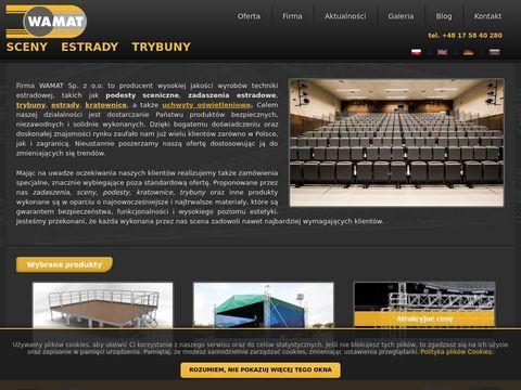Wamat.com.pl - podest sceniczny sprzedaż