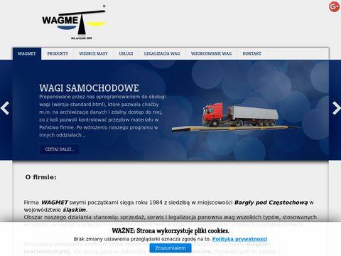 Wagmet.pl - wagi przemysłowe, wzorce masy