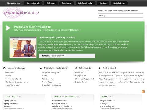 Funkcje katalogów www