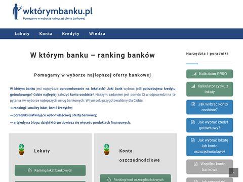 Wktorymbanku.pl - najlepsze oferty bankowe