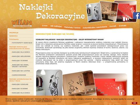 Wikam.com.pl naklejki na ścianę