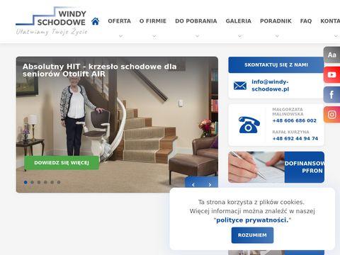 Windy schodowe dla osób niepełnosprawnych