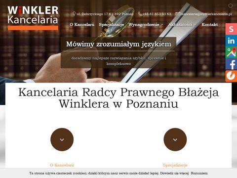 Winkler kancelaria sąd pracy Poznań porady