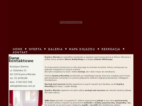 Willaroza.com.pl Krynica Morska noclegi