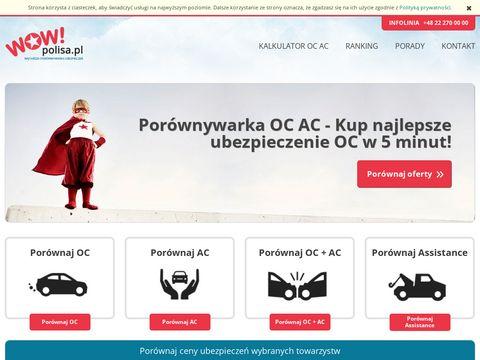 Wowpolisa.pl porównywarka ubezpieczeń OC