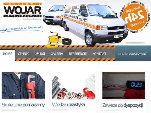 Pogotowie kanalizacyjne Kraków - Wojar.net