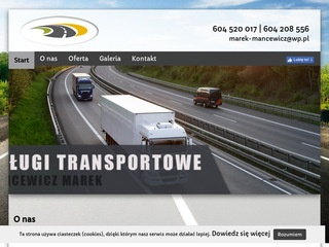 Transport-mancewicz.pl usługi transportowe Podlasie