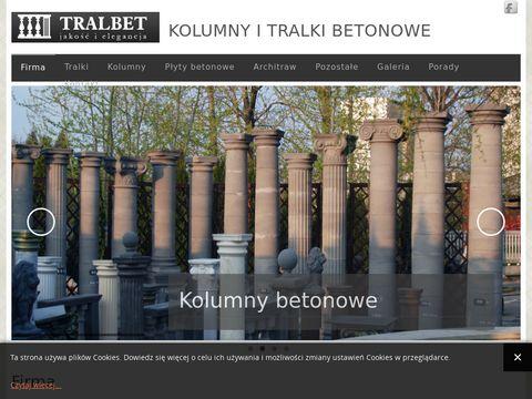 Tralbet.pl - producent tralek i kolumn betonowych