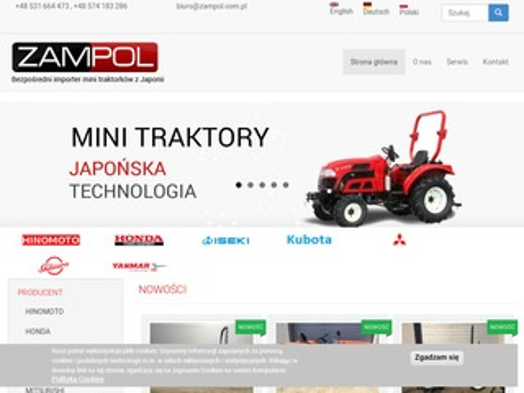 Zampol - mini traktorki Kubota, Yanmar, Iseki