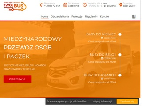 Twoj-bus.pl transport osób Polska Holandia