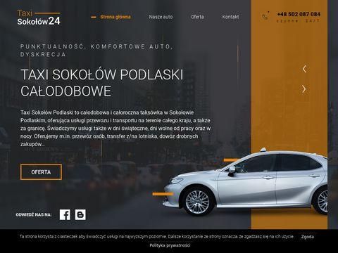 Taxisokolow24.pl odprowadzanie samochodu