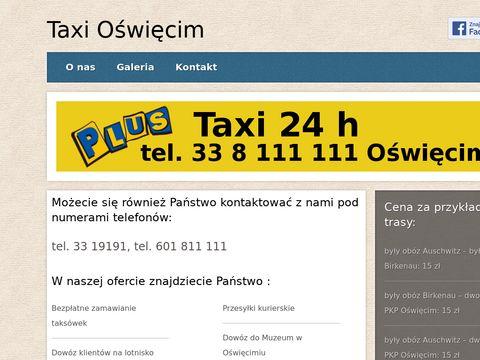Taxi Oświęcim,Taxi Muzeum, tanie taxi