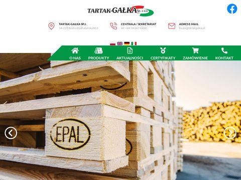Tartakgalka.pl producent palet drewnianych