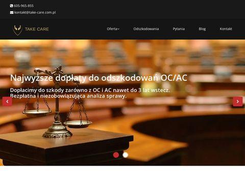 Take-care.com.pl skup odszkodowań Kielce