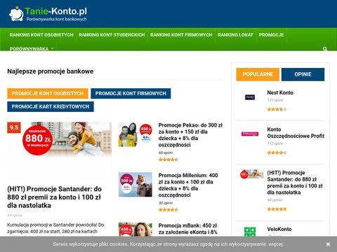 Tanie-konto.pl konto w banku