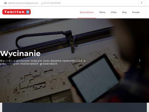 Tablitek.pl tablice informacyjne - tłoczenie