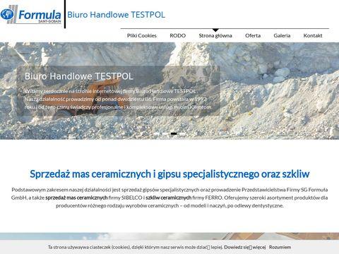 Testpol.com.pl sprzedaż gipsu odlewniczego