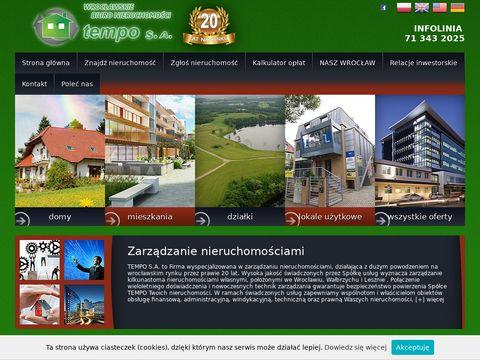 Tempo mieszkania na sprzedaż Wrocław