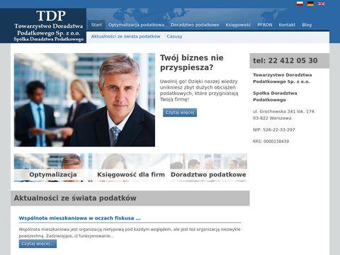 Doradztwo podatkowe Warszawa - TDP