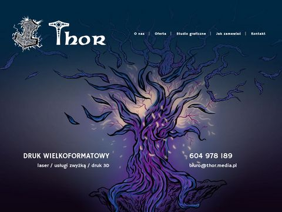 Thor drukarnia reklama Sosnowiec Katowice