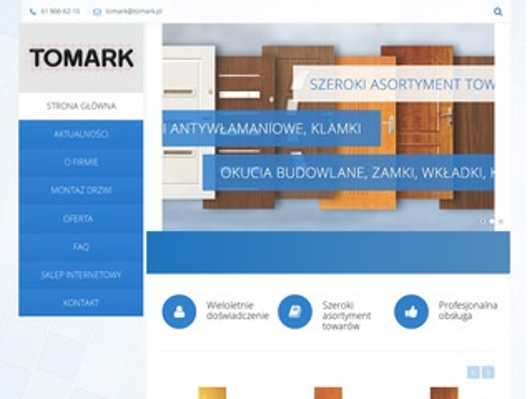 Tomark.pl okucia budowlane-zamki do drzwi, klamki