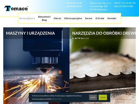 Tomaco.pl piły taśmowe, używane prasy hydrauliczne