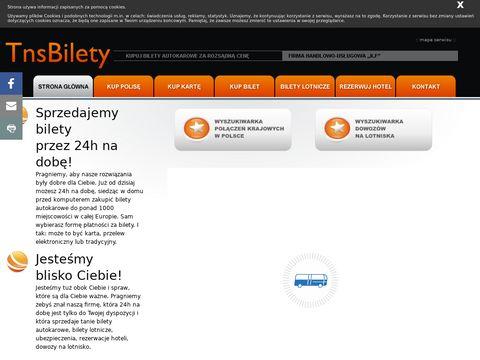Tnsbilety.pl bilety autokarowe, lotnicze, ubezpieczenia