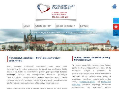 Boczkowska Grażyna czeski tłumaczenia