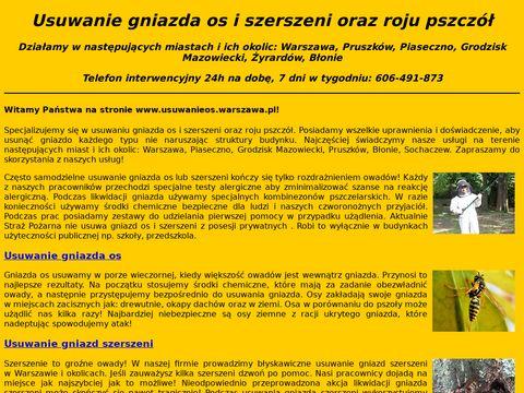 Usuwanieos.warszawa.pl gniazd szerszeni oraz rojów