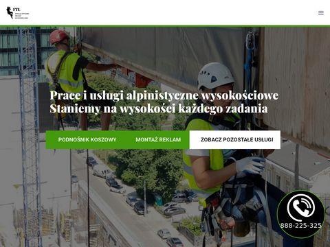 Uslugialpinistyczne.pl - prace wysokościowe