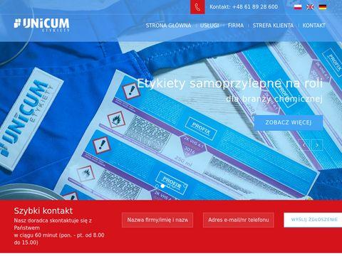 Unicum.com.pl - etykiety na rolce