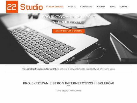 22studio.co.uk projektowanie stron internetowych