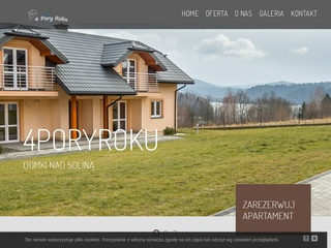 4poryroku.bieszczady.pl - domki w Polańczyku
