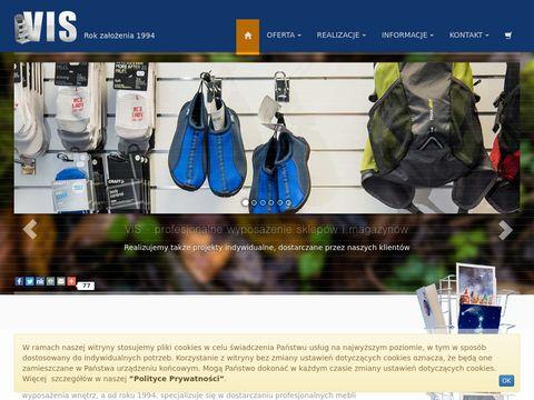 Vismeble.pl wyposażenie sklepów stojaki reklamowe