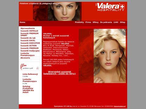 Valera.pl - suszarki hotelowe do włosów