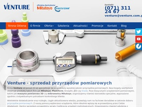 Venture dystrybutor Mitutoyo Wrocław
