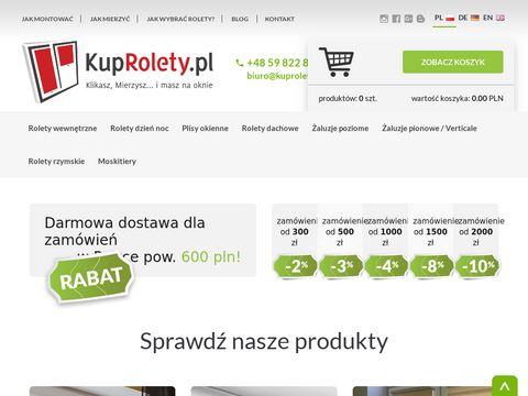 Kuprolety.pl rolety wewnętrzne żaluzje okienne sklep