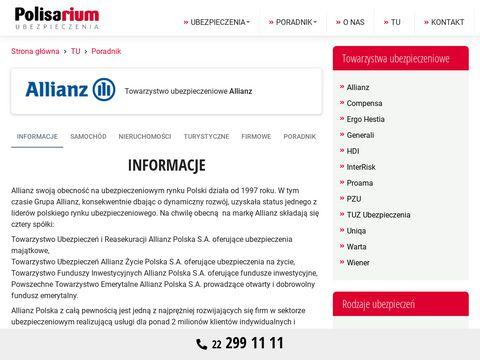 Allianz.info.pl - ubezpieczenia OC i AC