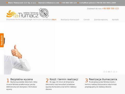 123tlumacz.pl tłumaczenia ekspresowe