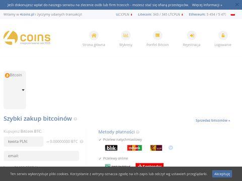 4Coins.pl - Prosty zakup bitcoin
