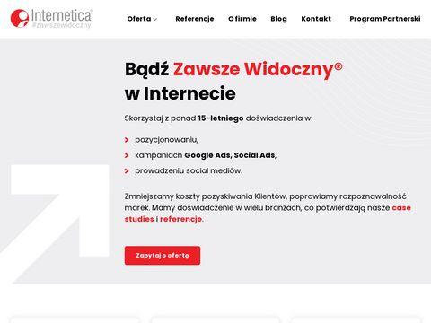 Internetica.pl pozycjonowanie sklepu online