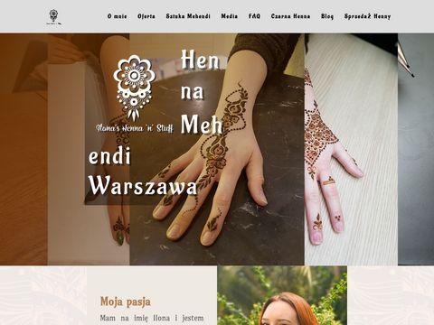 Henna.com.pl sahara tazarine tatuaż tymczasowy