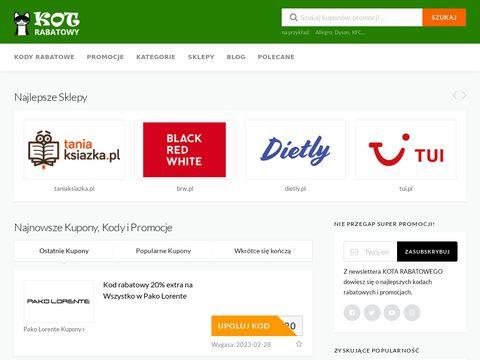 Kotrabatowy.pl promocje i kody rabatowe