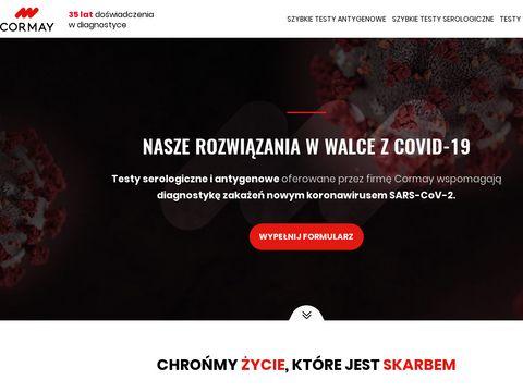 Koronawirus.cormay.pl testy