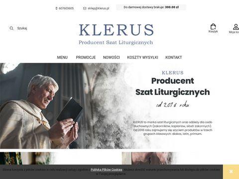 Klerus.pl stroje i szaty liturgiczne