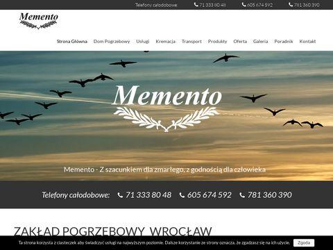 Memento-wroc.pl kremacje Wrocław